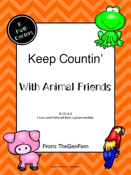 K.CC.A.2 Countin' On Centers with Animal Friends