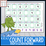 K.CC.A.2 Counting Forward from a Given Number