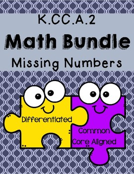 K.CC.A.2 Missing Numbers Math Bundle