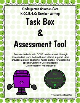 K.CC.B.4.C Math Task Boxes- Number After