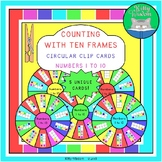 Kindergarten Math - Counting with Ten Frames Clip Cards -