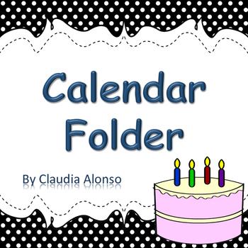 K Calendar Daily Activity Folder 2016-2017