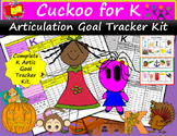 Cuckoo for K Goal Tracker Kit: Track K Articulation Goals with Ease.