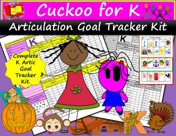 Cuckoo for K Goal Tracker Kit: Track K Articulation Goals with Ease.