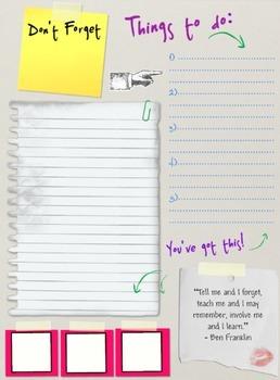 Teacher Binder- Notes