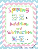 K Common Core Math Addition & Subtraction w/ Spring Playing Cards
