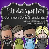 K Common Core posters - EDITABLE - PowerPoint, ELA, Math, Science, Soc Studies