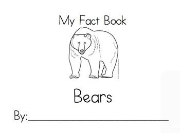 K Common core writing unit informative_Bears