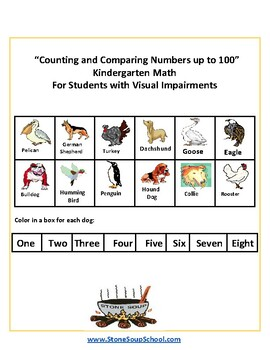 K - Counting and Comparing Numbers to 100 -  Students w/ Visual Impairments