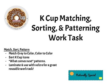 K-Cup Match, Sort, Pattern