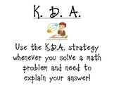 K.D.A. Poster (What I KNOW, What I DID, My ANSWER)