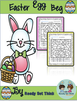 K Easter Egg Beg (Color By Addition and Subtraction)