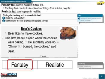 Distinguish Fantasy Text from Realistic Text