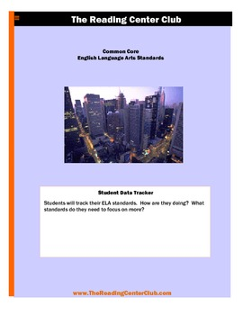 K - ELA Common Core Standards for Students Data Folders