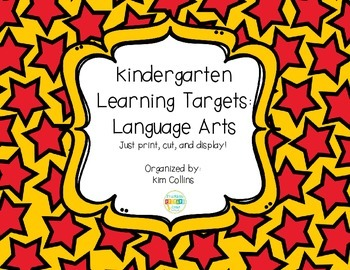 K ELA Learning Targets