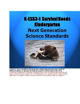 K-ESS3-1 Survival Needs and Places to Live