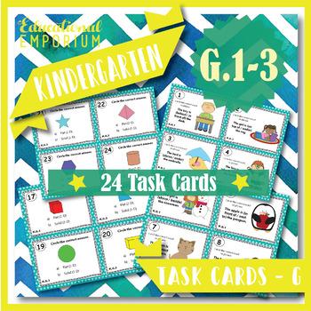 K.G.1-3 Task Cards: \