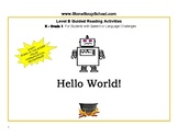 """Guided Reading, Level B """"Hello World"""" for Speech /Language"""