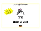 """Distance Learning, Level B Guided Reading """"Hello World"""" w/Traumatic Brain Injury"""
