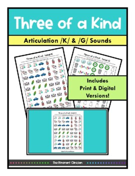 K & G ARTICULATION GAME Three of a Kind, SPEECH THERAPY