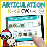 K & G Articulation Boom Cards | Articulation CVC Words for
