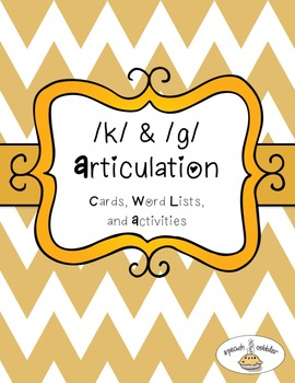 K & G Articulation Cards and Activities