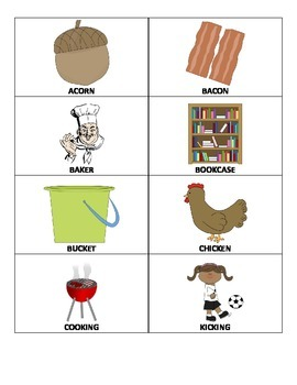 K & G Articulation High-Frequency CVC Word Picture Cards Combo Pack