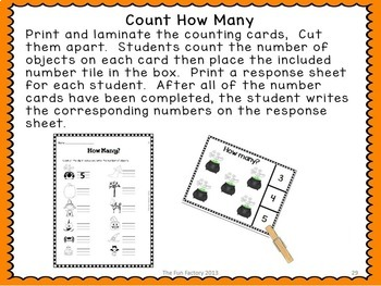 Halloween Math ~ Counting 1-12,  Measurement,  More or Less,   ~ K-1