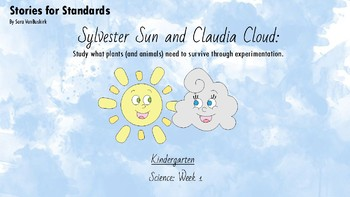"""K-LS1-1 Story and Lesson Sequence """"Sylvester Sun and Claudia Cloud"""""""