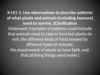 K-LS1-1 Survival Needs Patterns PowerPoint