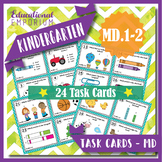 "K.MD.1-2 Task Cards ""Measurable Attributes; Comparing Objects"" KMD1-KMD2 Centers"