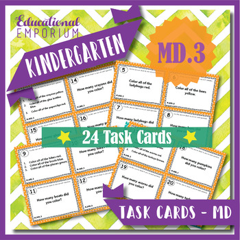 "K.MD.3 Task Cards: ""Classify & Count Objects"" Task Cards, K.MD.3 Centers"
