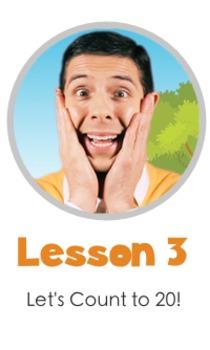Math LESSON 3 ~ VIDEO & PRINTOUT ~ Let's Count to 20!