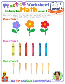 Math LESSON 5 ~ VIDEO & PRINTOUT ~ Only Count it Once!