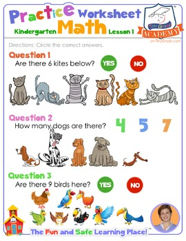 Math LESSON 1 ~ VIDEO & PRINTOUT ~ Working With Numbers!