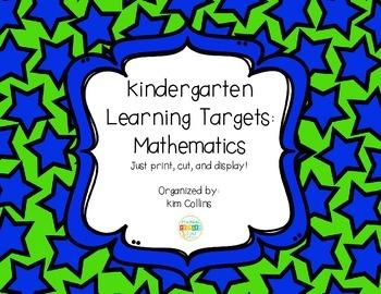 K Math Learning Targets