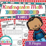 Kindergarten Common Core Math | No Prep Worksheets | K.NBT.1