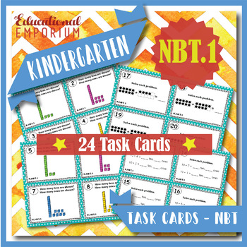 "K.NBT.1 Task Cards ""Composing & Decomposing Numbers"" Task Cards, K.NBT.1 Centers"