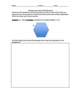 K'Nex Hexagon Build with Perimeter questions (STEM)