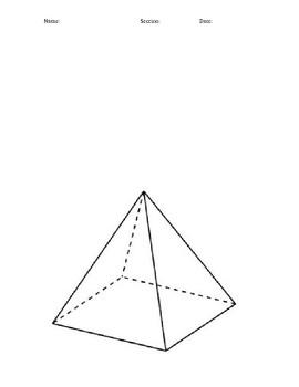 K'Nex Pyramid Build with Volume questions (STEM)