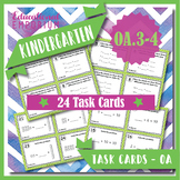 K.OA3 & K.OA4 Task Cards / Centers ⭐ Decompose Numbers & Add to Make 10