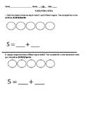 K.OA.3, K.OA.4, K.OA.5 Kindergarten Common Core Standards