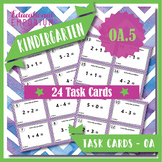 """K.OA.5 Task Cards """"Fluently Add & Subtract within 5"""" Task Cards: K.OA.5 Centers"""