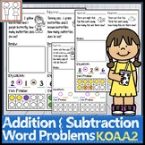 K.OA.A.2 Addition and Subtraction Word Problems