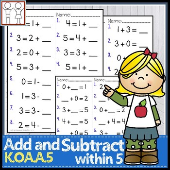 K.OA.A.5 Add and Subtract within 5