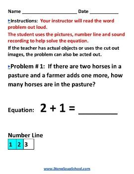 K - Operations/ Algebraic Thinking -  w/ Visual Impairments