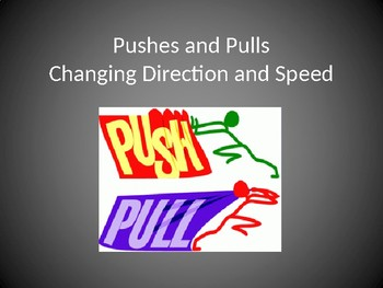 K PS2-2 Pushes and Pulls to Change Speed and/or Direction: PowerPoint