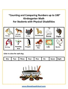 K - Physical Disabilities -   Counting and Comparing Numbers up to 100