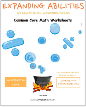 K Math Bundle:Geometry,Algebra,Base 10,M&D,Count to100 for Physical Disabilities