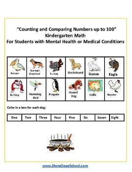 K - Psychiatric Disabilities - Counting and Comparing Numbers up to 100 -
